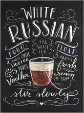 Wall sticker  white russian - Lily & Val