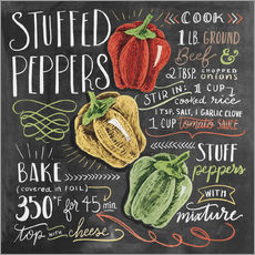 Wall sticker  Stuffed peppers recipe - Lily & Val