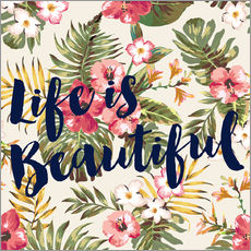 Wall Sticker  life is beautiful - Mod Pop Deco