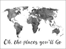 Wall sticker  Oh, the places you´ll go - Mod Pop Deco