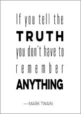 Wall sticker  Truth is Anything - Mod Pop Deco