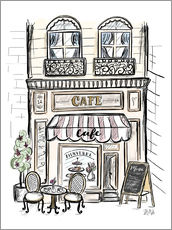 Gallery Print  French Shop Front - Café - Lily & Val