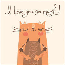 Wall Stickers  Cats love - Kidz Collection