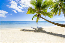 Wall Stickers  Palm beach and sea in summer vacation - Jan Christopher Becke