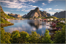 Wall sticker  Fishing village in the Lofoten Islands, Norway - Dennis Fischer