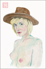 Gallery print  Lady with hat - Bryan James