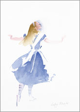 Wall sticker  Alice in Profile - Lesley Fotherby