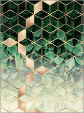 Gallery print  Leaves and cubes - Elisabeth Fredriksson