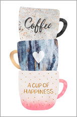 Wall Stickers  A cup of happiness - Elisabeth Fredriksson