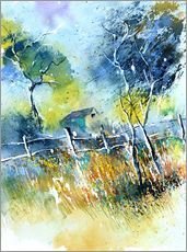 Gallery Print  The fence at the meadow - Pol Ledent