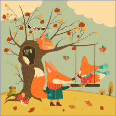 Gallery print  Swingin' in the autumn wind - Kidz Collection