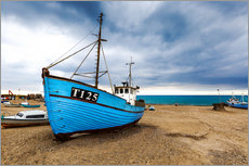 Gallery print  Ships at the beach of Vorupoer - Reemt Peters-Hein