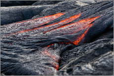 Gallery print  Hot flowing Lava on Big Island, Hawaii - Markus Ulrich