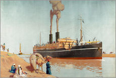 Gallery print  Suez canal - Charles Pears