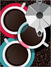 Wall Sticker  Coffee Cups & Moka - ilaamen Pelshaw