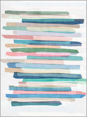 Wall Stickers  Pastel Stripes 1 - Mareike Böhmer Graphics