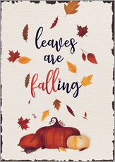 Wall Stickers  leaves are falling - Sybille Sterk