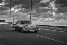 Wall sticker  Classic Cuban Car in black and white - Alex Saberi