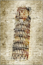 Wall Sticker  THE LEANING TOWER OF PISA - Michael artefacti