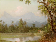 Wall sticker  South American scene with a farm - Martin Johnson Heade