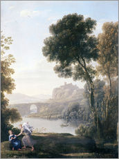 Wall Stickers  Landscape with Hagar and the Angel - Claude Lorrain