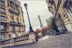 Gallery Print  Paris - Avenue de Camoens with a view of the Eiffel Tower - rclassen