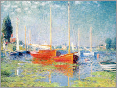 Wood print  Argenteuil - Claude Monet