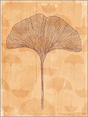 Wall sticker little and big ginkgo leaves