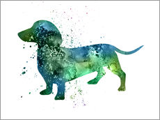 Wall sticker  Dachshund dog - Dani Jay Designs