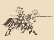 Gallery print  Knight with armor and horse