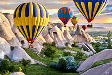 Wall sticker  Balloons over the Tuff Rock of Turkey - imageBROKER