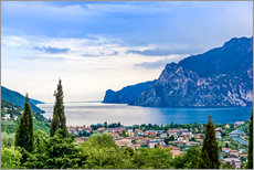 Wall sticker  View of Riva Del Garda and Lake Garda, Italy