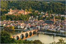 Wall sticker  View of the Old Town of Heidelberg from the Philosophenweg - Michael Valjak