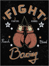 Gallery print  boxing match