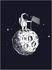Wall sticker The first man on the moon