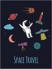 Wall sticker Space Travel Kid