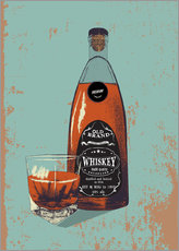 Wall sticker Whiskey bottle and glass