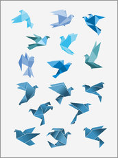 Wall sticker  Origami Peace Doves