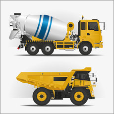 Wall sticker  Construction sites vehicles - Kidz Collection