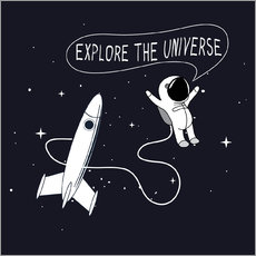 Wall sticker Space explorers