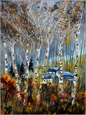 Wall sticker  The houses in the forest - Pol Ledent