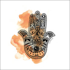 Wall sticker YOGA Symbol Hand