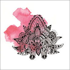 Wall sticker YOGA Symbol Lotus