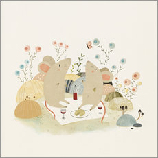 Wall sticker Romantic mice