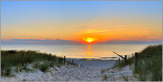 Wall sticker  Sunset Panoramic at the beach - Fine Art Images