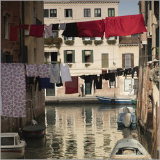 Wall sticker Washing lines in Venice, Italy