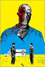 Gallery Print  Breaking Bad Gus Fring death whit blood - Paola Morpheus