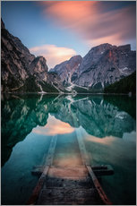 Wall Stickers  Lago di Braies just before sunset - MUXPIX