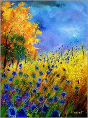 Wall sticker  Cornflowers field - Pol Ledent