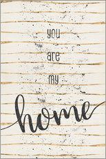 Wall Stickers  TEXT ART You are my home - Melanie Viola